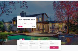 Шаблон продажа домов с фильтрацией