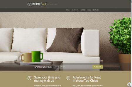 шаблон сайта аренда апартаментов