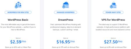 Цены на хост от dreamhost
